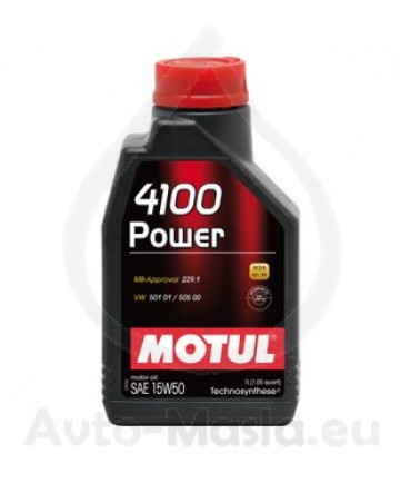 MOTUL 4100 POWER 15W50- 1 ЛИТЪР