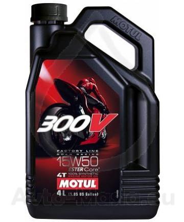 MOTUL 300V 4T Factory Line Road Racing 15W50 4L