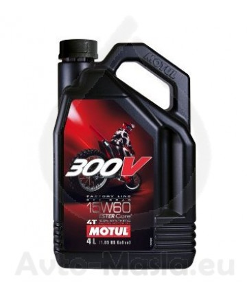 MOTUL 300V 4T Factory Line Off Road 15W60- 4L