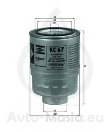 Горивен филтър KNECHT KC 67