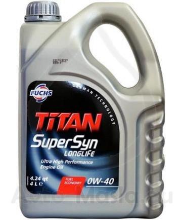 TITAN SUPERSYN LONGLIFE 0W40- 4L