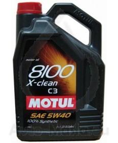 MOTUL 8100 X-CLEAN C3 5W40- 5L