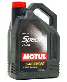Масло MOTUL SPECIFIC BMW LL-04 5W40- 5L
