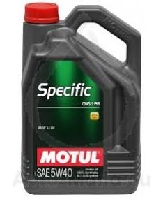 MOTUL SPECIFIC CNG/LPG 5W40- 5 ЛИТРА
